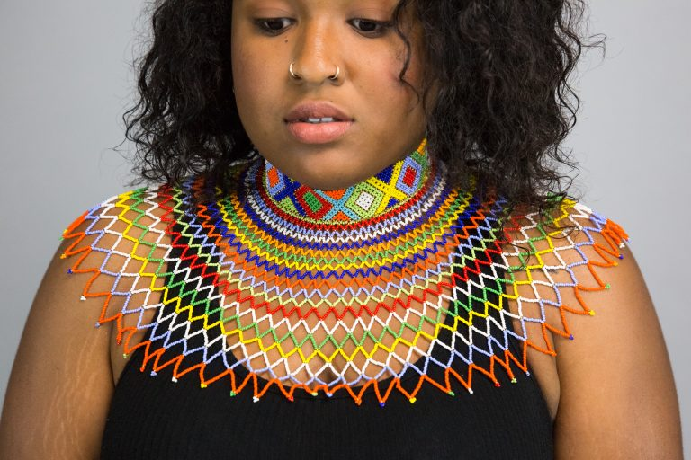 Aya Zulu Bead Necklace  – Front